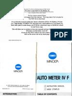 Minolta Autometer IV f