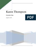 karen thompson efolio   cv august 2015