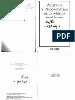 ROEDERER, J. - Acústica y Psicoacústica de La Música