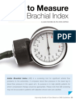 How to Measure Ankle Brachial Index