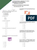 Examen de Diagnóstico Para Tercer Grado
