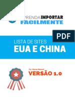 Lista de Sites e Fornecedores Dos EUA e China