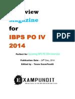 IBPS PO IV 2014 Interview Magazine ExamPundit