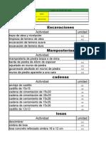 tabla para precios de mano de obra para ajustar matrices en costos y presupuestos