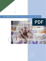 ISO 9001 2015 FDIS Penjelasan Klausul-klausul