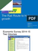 Railway Sector Economic Survey GoI 2014-15 by Rajnish Kumar