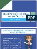 Presupuesto de La República Del Perú 2015