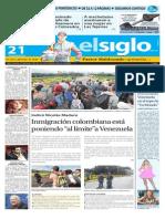 Edicion Impresa El Siglo 21-08-2015