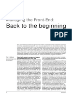 Managing the Front-End- Back to the Beginning