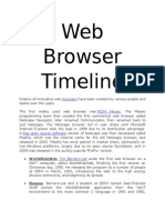 Web Browser Timeline