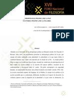 Antropologia Politica de La Paz, Guillermo Zapata