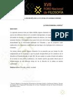 Elementos de La Filosofía de La Cultura en George Simmel, Javier Ferreira