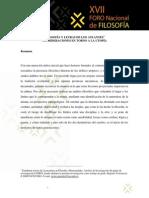 Filosofía y Letras de Los Atlantes, Javier Nicolás González