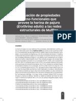 EVALUACION DE PROPIEDADES TECNOFUNCIONALES QUE PROVEE LA HARINA DE PAJURO A LAS REDES ESTRUCTURALES DE MUFFINS