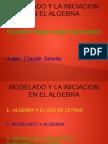 el modelado y la iniciacion en el algebra