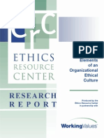 Lements of an Organizational Ethical Culture