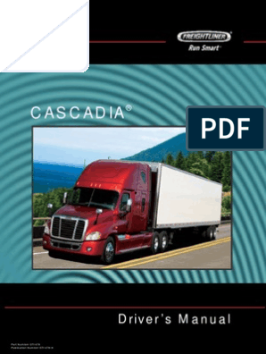 Freightliner Model CA113, CA125 Cascadia driver's manual pdf