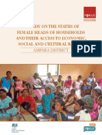 A study on the Status of Female Heads of Households and their Access to Economic, Social and Cultural Rights  (Ampara)