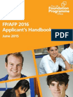 FP2016 Applicants Handbook FINAL WEB