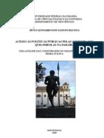 Acesso às Políticas Públicas pelas Comunidades Quilombolas na Paraíba