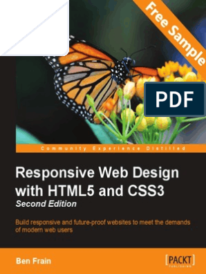 Responsive Web Design With Html5 And Css3 Second Edition Sample Chapter Responsive Web Design Web Design