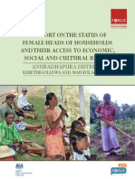 A study on the Status of Female Heads of Households and their Access to Economic, Social and Cultural Rights (Anuradhapura)