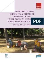 A study on the Status of Female Heads of Households and their Access to Economic, Social and Cultural Rights  (Puttalam)