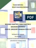 Resume Macroeconomics Mankiw Chapter 1 dan 2