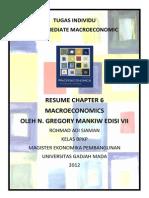 Resume Macroeconomics Chapter 6