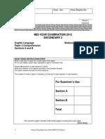 Cchms Sec 3el Mye Paper 2 (Sections a b)