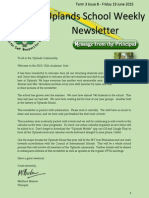Uplands School Weekly Newsletter - Term 1+Issue 1 - 21 August 2015