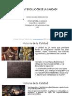 1 Historia y Evolucion de La Calidad