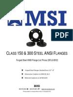 Forged steel flanges PriceList