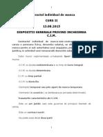 Contractul Individual de Munca Curs 2