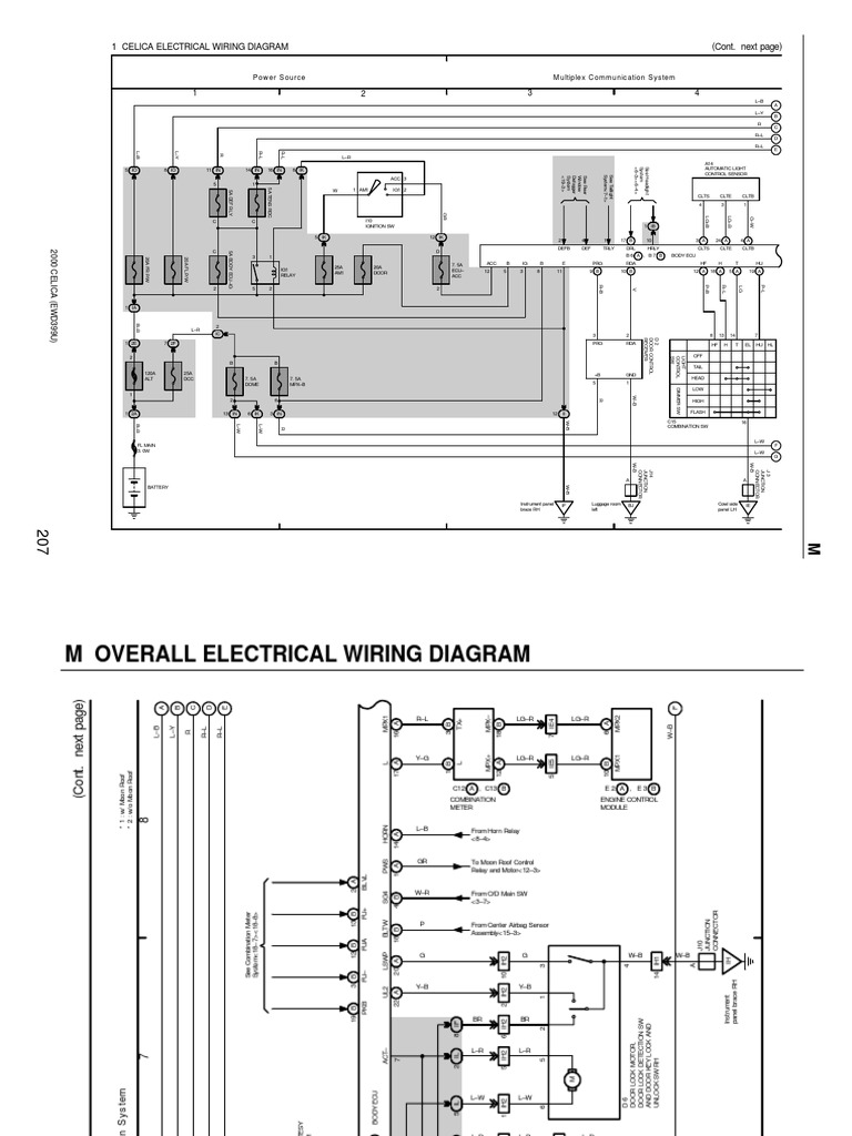 Toyota Celica Wiring Diagram | Vehicles | Vehicle Technology on