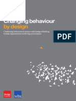 Changing Behaviour by Design