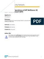 Saml 2.0 at Sap Gateway and Msft Adfs