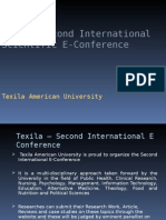 International 2nd Scientific E-Conference