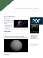 3D Planet Render