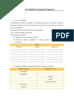 Ficha de Trabalho de Língua Portuguesa 6º