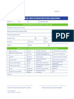 Formulario Solicitud Libro de Reclamaciones