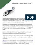Review Mando A Distancia Universal Lidl Kh2159 De 8€