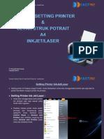 Panduan Setting Printer & Cetak Struk Potrait A4 INKJET LASER
