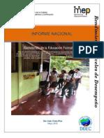 Informe Nacional 2014 Cap. 1, 2 y 3