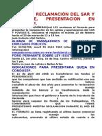 Formato ReclamaciÓn Del Sar y Fovissste, Presentacion