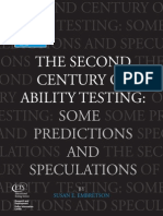 Embretson, S. (2003) the Second Century of Ability Testing Some Predictions and Speculations