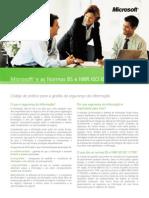 Microsoft® e as Normas BS e NBR ISO IEC 17799