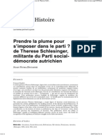 JEAN-NUMA DUCANGE, Prendre la plume pour s'imposer dans le parti? Le Cas de Therese Schlesinger, militante du Parti social-démocrate autrichien