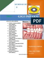 Bab II Pembahasan Gigi Impaksi Kelompok i Bedah Mulut Kedokteran Gigi Unsri