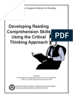 Developing Reading Comprehension Skills Using the Critical Thinking Approach